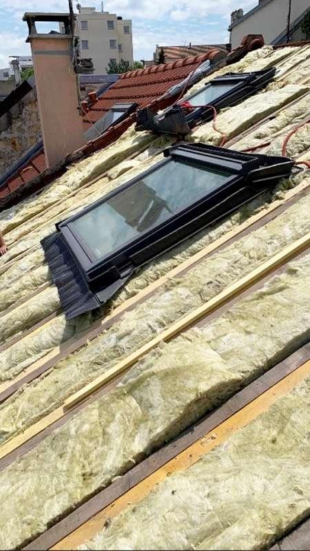 pose et installation d'une isolation sous toiture